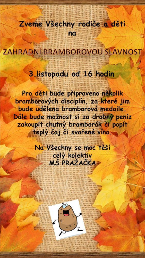 Zahradní bramborová slavnost v MŠ Pražačka