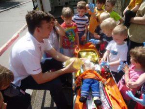 Záchranáři v MŠ Pražačka