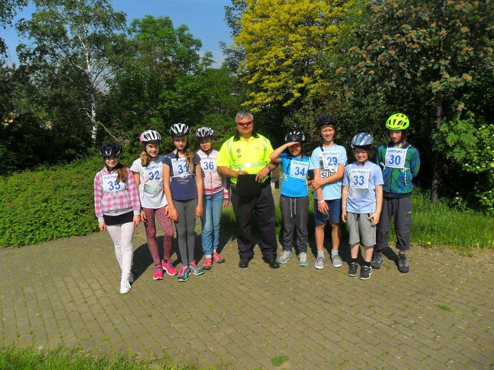ZŠ Jarov obhájila loňské DOUBLE v obvodním kole Dopravní soutěže mladých cyklistů!