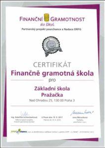 Finančně gramotná škola ZŠ Pražačka