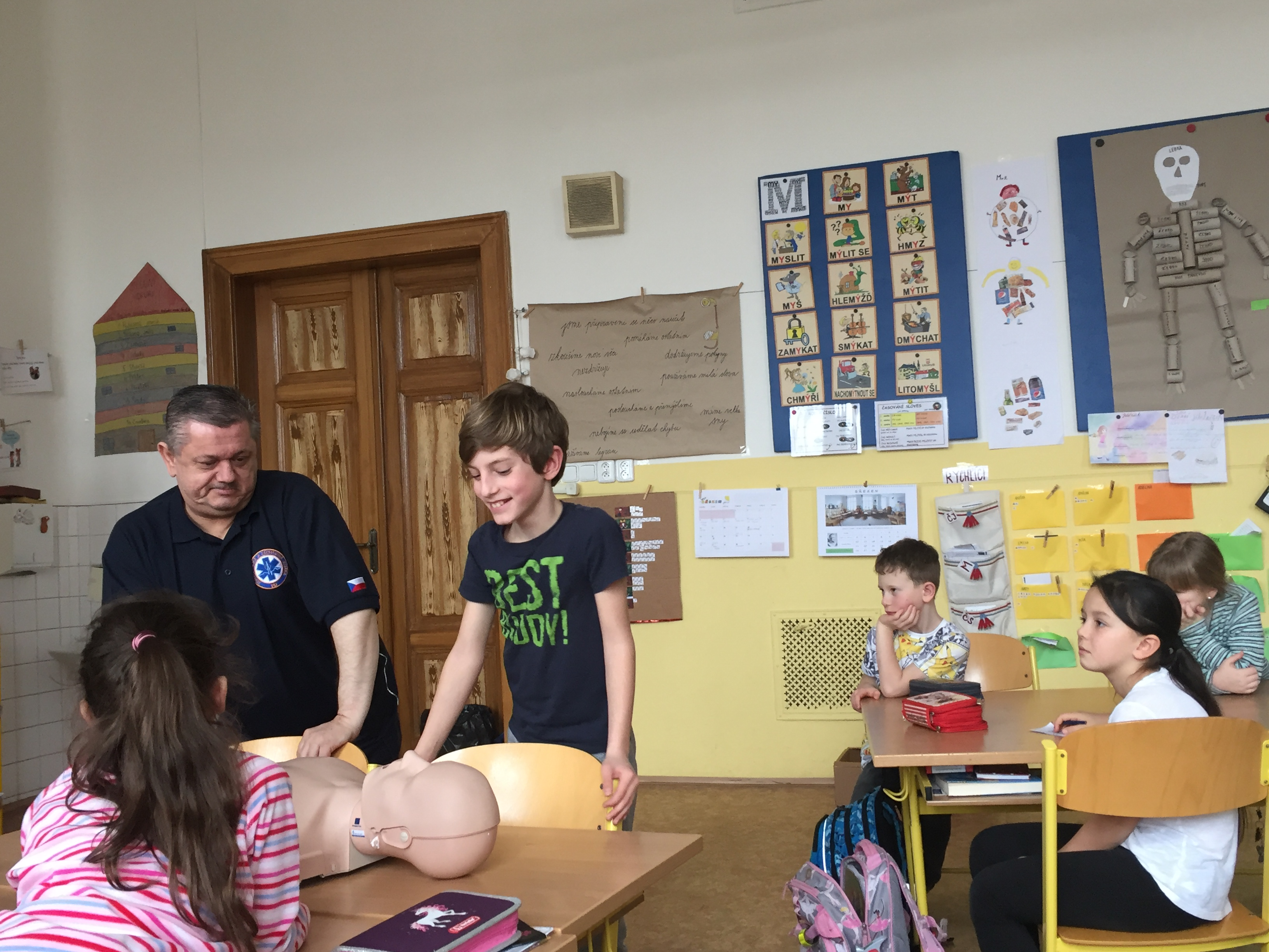 Preventivní program HZS pro žáky 3. C, Základní škola, Praha 3, nám. Jiřího z Poděbrad