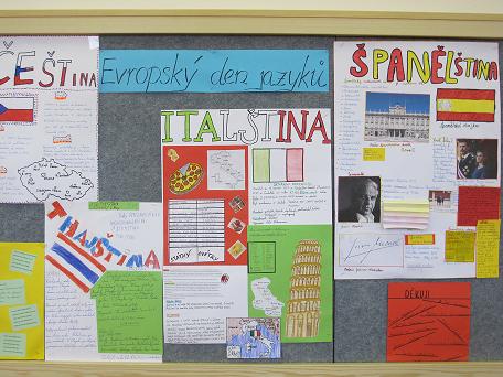 Projekt k Evropskému dni jazyků na ZŠ Jeseniova