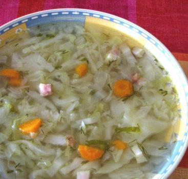 Recept číslo 6 – Kapustová polévka