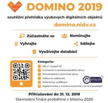 DOMINO – 2019 – nové kategorie, cena pro tvořivé účitele na základě nominací a mnoho dalšího