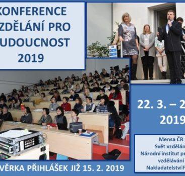 Vzdělání pro budoucnost 2019 – konference k rozvoji vzdělání