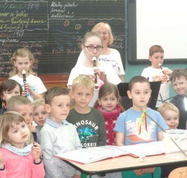 Děti z MŠ Na Balkáně na koncertě flétnistů