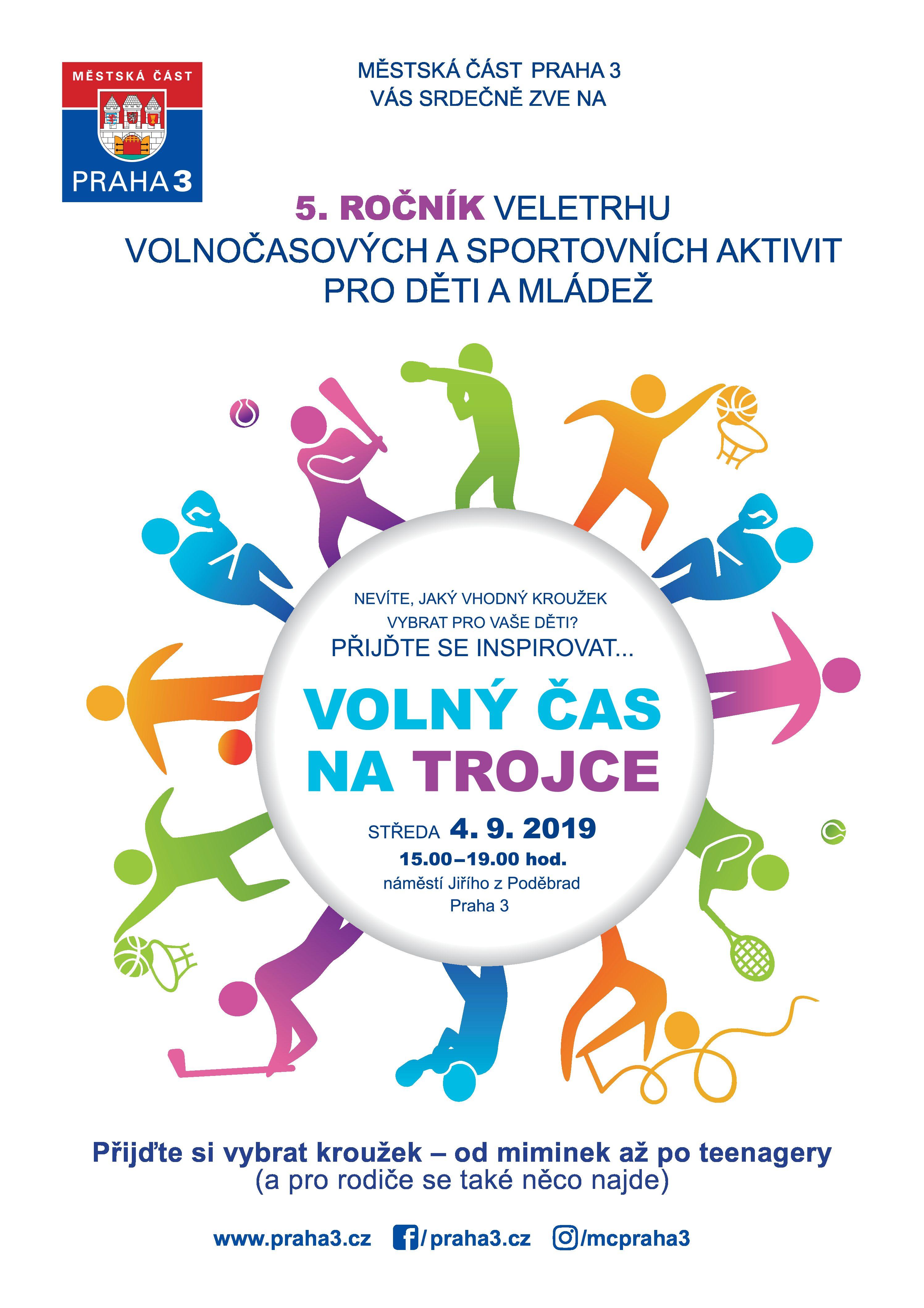 Volný čas na Trojce – 5. ročník veletrhu volnočasových a sportovních aktivit pro děti a mládež