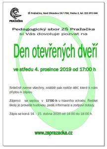 ZŠ Pražačka - Den otevřených dveří